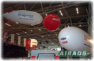 RC Blimps in Trade Show Image